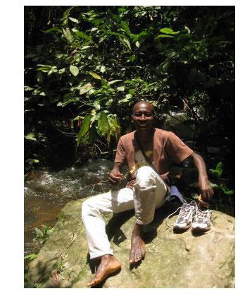 Richard à la Cascade de Kpalime au Togo